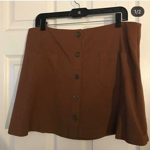 Brown button up skirt from ASOS. size large
